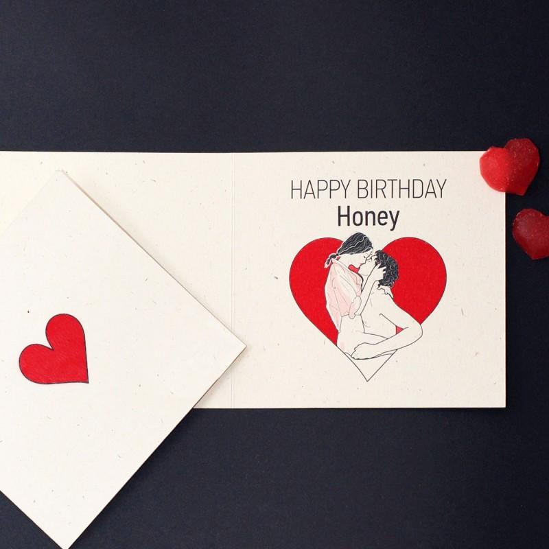 "Post card ""HAPPY BIRTHDAY HONEY"""