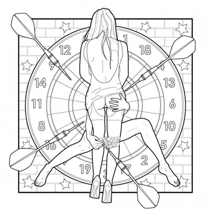 "Adult Coloring Book ""Only Girls"""