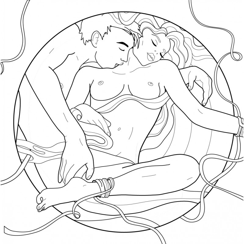 "Coloring book for adults ""Erotic"""