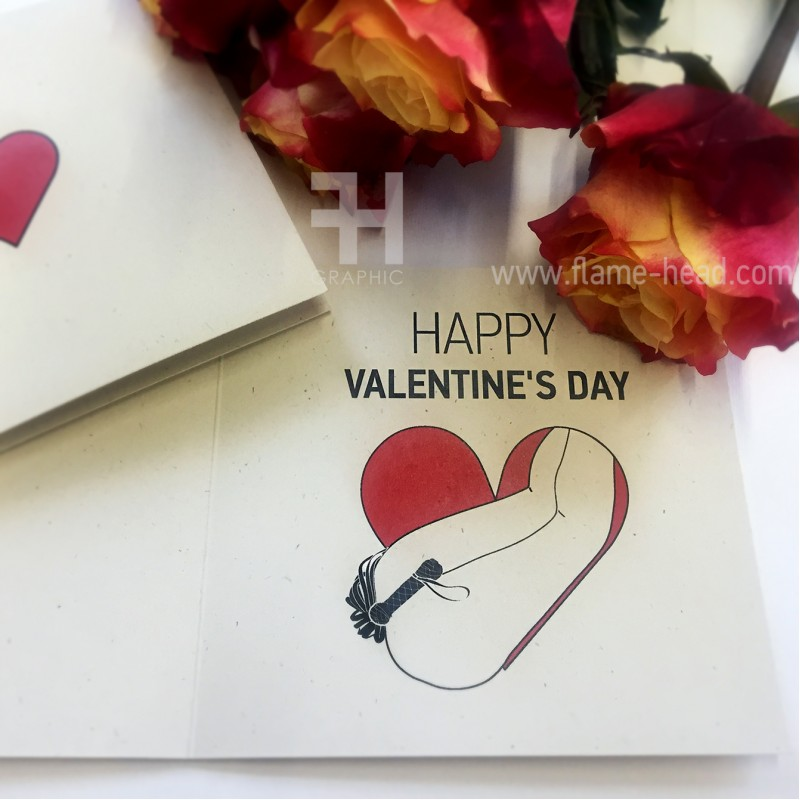 "Post Card ""Happy Valentine's Day"" Flogging"