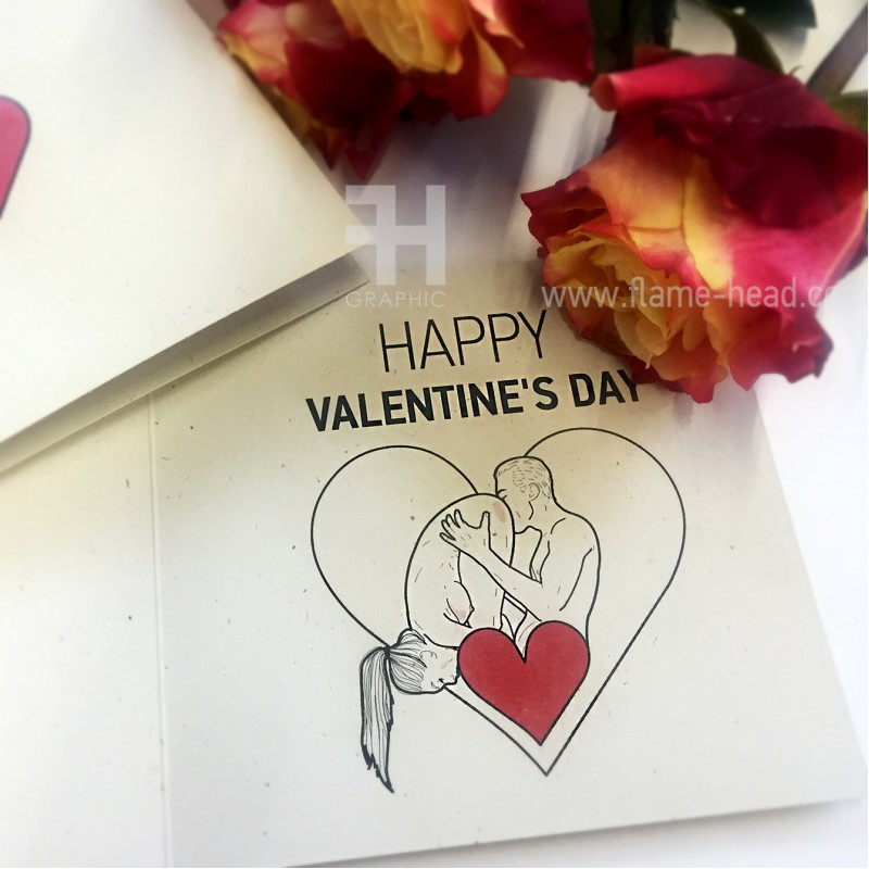 "Postcard ""Happy Valentine's Day"" 69"